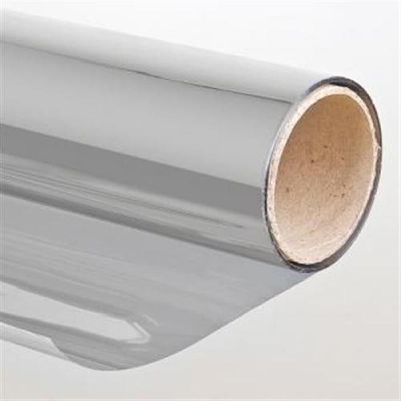 Sonnenschutzfolie mit spiegeleffekt 75 x 900cm silber selbstklebend for Pellicola a specchio per vetri