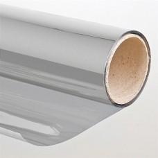 Pellicola solare adesiva per vetri Effetto specchio 75 x 300cm Argento oscurante